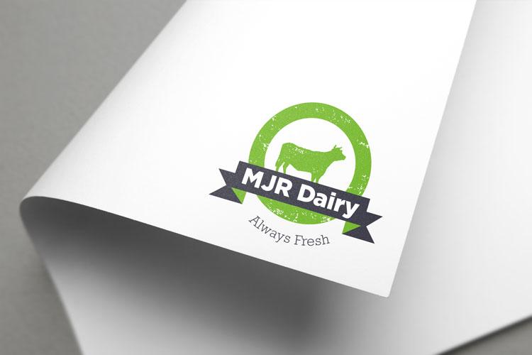 MJR Dairy Logo Design