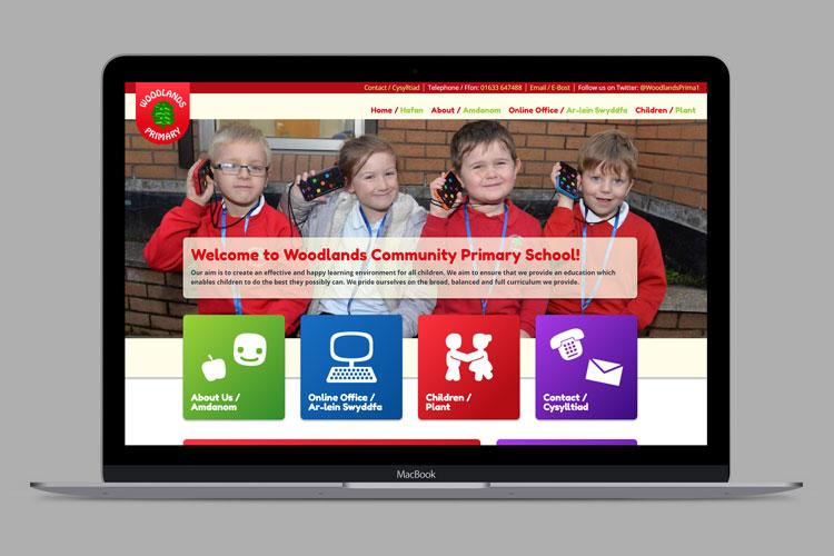 Woodlands Primary School Website Design